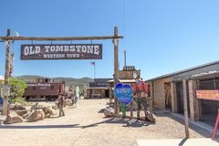 Free Old Tombstone Western Town Theme Park Stock Photography - 152543462