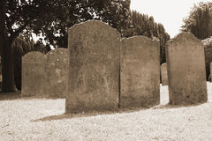 Old tombstones Royalty Free Stock Photo