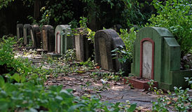 Old tombstones and graveyards Royalty Free Stock Photos