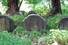 Old tombstones and graveyards Stock Photography