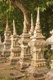 Old tombstones in Luang Prabang Stock Photo