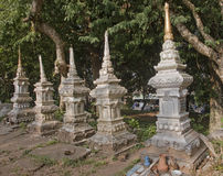 Old tombstones in Luang Prabang Stock Images
