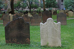 Old tombstones in new york Royalty Free Stock Photo