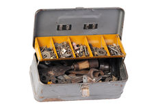 Old tool box stock images