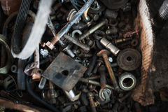 Old tool in dirty place Royalty Free Stock Photo