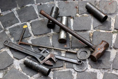 Old tool set Royalty Free Stock Photography