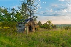Old Tool Shed. At Dusk royalty free stock image