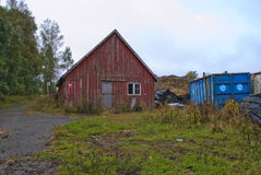 Old tool shed. Photo is shot near the femsjøen (five sea) in halden and shows an old tool shed that is in decay Stock Photography