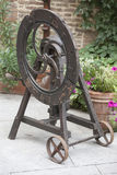 Old tool with wheel Stock Photo