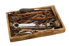 Old toolbox Royalty Free Stock Images