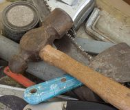 Old tools. This is a photo of some old tools Stock Images