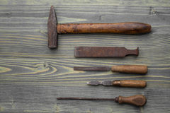 Old tools background Stock Images