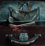 Old tools in the case Stock Images