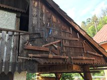 Old tools. Farming old tools royalty free stock photos