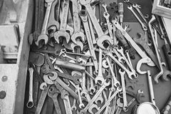 Old tools at flea markets Royalty Free Stock Photos