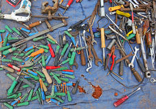 Old tools at flea markets Royalty Free Stock Image