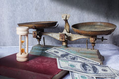 Old tools of money. Royalty Free Stock Photography