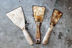 Old tools for painting Royalty Free Stock Photo