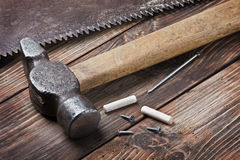 Old tools for repairing lie Royalty Free Stock Photography