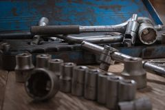 Old tools Socket Wrench. stock photos