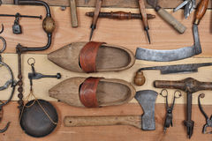 Old tools three Royalty Free Stock Photo