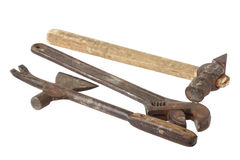 Old tools. Wrench and hammer. Stock Photography