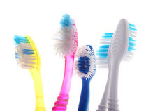 Old toothbrush Stock Images