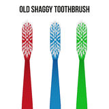 Old toothbrush. Vector Royalty Free Stock Photography