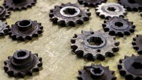 Old toothed wheels. Close view Royalty Free Stock Photography