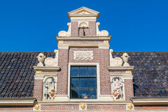 Old top gable in Alkmaar, Netherlands Royalty Free Stock Images