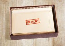 Old top secret envelope stock photo