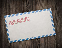 Old top secret envelope on table. Stock Images
