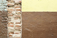 Old torn brick wall Stock Photo
