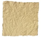 Old torn crumpled paper Royalty Free Stock Images