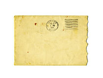 Old torn envelope with 1941 postal stamp Stock Images