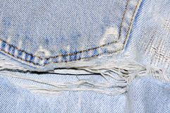 Old and torn jeans Royalty Free Stock Photography