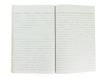 Old torn line notebook Royalty Free Stock Images