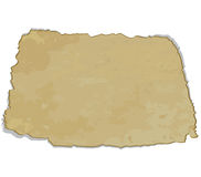 The old torn paper. Isolated on a white background. Vector illustration vector illustration