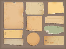 Old torn paper. Old torn stain paper objects vector illustration