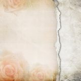 Old Torn Paper Background Royalty Free Stock Image