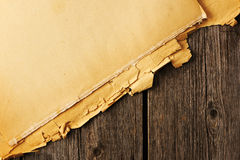 Old torn paper on the background Royalty Free Stock Photography