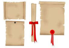 Old torn paper, cdr vector Royalty Free Stock Photography