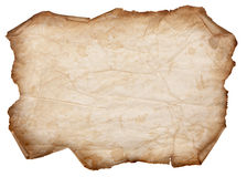 Old Torn Paper Scroll Isolated on a White Background. Old, Dry Paper With Torn Edges Curled Isolated on a White Background stock photos