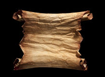 Old Torn Paper Scroll Isolated on a White Background Royalty Free Stock Photo