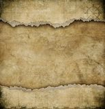 Old Torn Paper Vintage Map Background Stock Photography