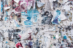 Old torn posters Royalty Free Stock Images