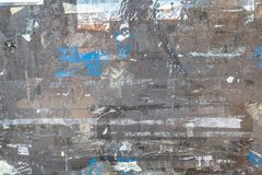 Old Torn Posters. Ideal for concepts and backgrounds royalty free stock photos