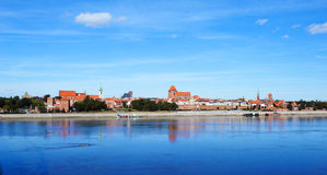 Old Torun in summer. A view of the panorama of the Old Torun, Poland Royalty Free Stock Images