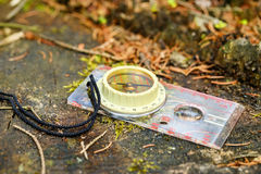 Old touristic compass Royalty Free Stock Images