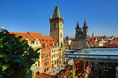 Old Towen Hall, The Astronomical Clock on Old Towen Square, Prague, Czech Republic Royalty Free Stock Images